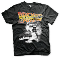 Back to the Future T-Shirt - Poster DeLorean (schwarz)