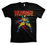 Marvel Comics T-Shirt - Wolverine Scratches (schwarz)