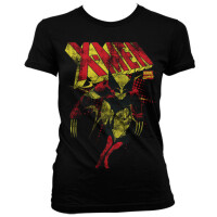 Marvel Comics Damen T-Shirt - X-Men Retro Logo Distressed...