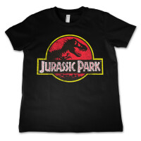 Jurassic Park Jugend Youth T-Shirt - Distressed Logo...