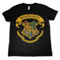 Harry Potter Jugend Youth T-Shirt - Hogwarts Crest (schwarz)
