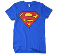 Superman Jugend Youth T-Shirt - Logo (blau)