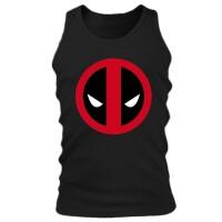 Deadpool Tank Top (Herren): Deadpool Logo (schwarz)