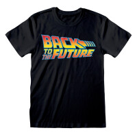 Back to the Future T-Shirt - Vintage Logo (schwarz)