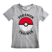 Pokemon T-Shirt Trainer (grau) (Kinder, 5-13 Jahre)