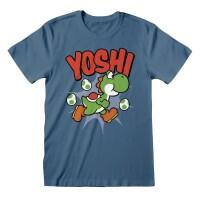 Super Mario T-Shirt - Yoshi (blau)