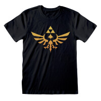 Legend of Zelda T-Shirt - Hyrule Logo (schwarz)