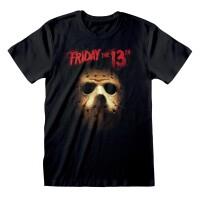 Friday the 13th T-Shirt - Jason Hockey Mask (schwarz)