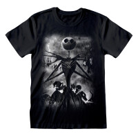 Nightmare Before Christmas T-Shirt - Stormy Skies (schwarz)
