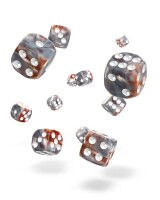 oakie doakie DICE D6 Dice 12 mm Gemidice - Silver-Rust (36)