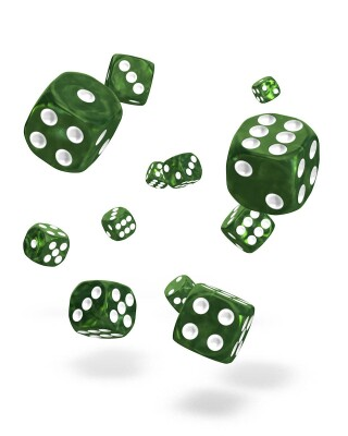 oakie doakie DICE D6 Dice 12 mm Marble - Green (36)