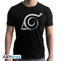 Naruto T-Shirt - Konoha Symbol (schwarz)
