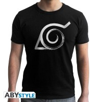 Naruto T-Shirt - Konoha Symbol (schwarz) L