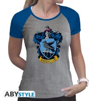 Harry Potter Damen T-Shirt (Girlie): Ravenclaw Wappen (grau)