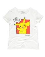 Pokemon Damen T-Shirt (Girlie): Pika Pika Pika (weiß)
