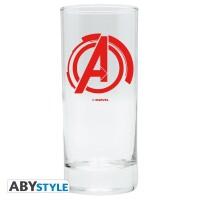 Marvel Comics Trinkglas Avengers Logo (290 ml)