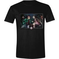 Demon Slayer T-Shirt Nezuko & Tanjiro Kamado (schwarz)