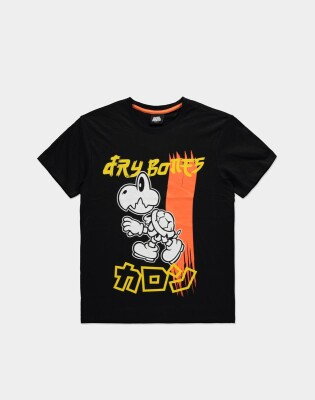 Super Mario T-Shirt - Dry Bones (schwarz) M