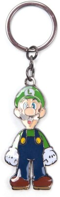 Super Mario Schlüsselanhänger aus Metall Luigi with Moveable Head