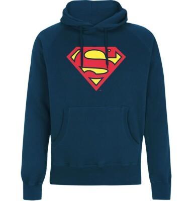 Superman Kapuzenpullover : Classic Logo (blau) S