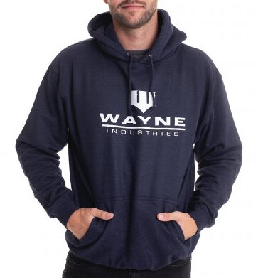 Batman Kapuzenpullover : Wayne Industries Logo (navy)