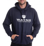Batman Kapuzenpullover : Wayne Industries Logo (navy) M