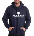 Batman Kapuzenpullover : Wayne Industries Logo (navy) XXL