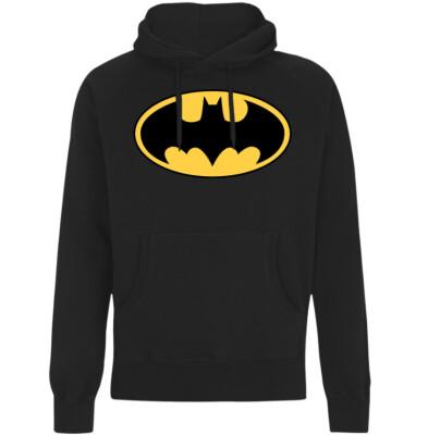 Batman Kapuzenpullover : Classic Logo (schwarz) XXL