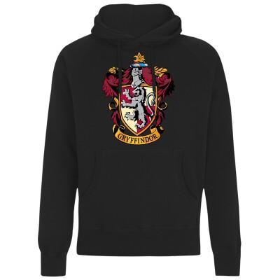 Harry Potter Kapuzenpullover : Gryffindor Crest (schwarz) XXL
