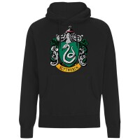 Harry Potter Kapuzenpullover : Slytherin Crest (schwarz)