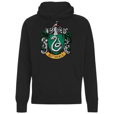 Harry Potter Kapuzenpullover : Slytherin Crest (schwarz) XL