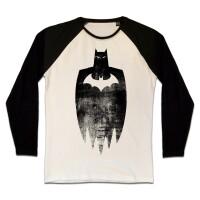 Batman T-Shirt (Raglan) : Sketch Silhouette...
