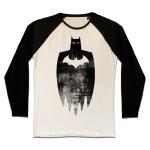 Batman T-Shirt (Raglan) : Sketch Silhouette (schwarz/weiß) M