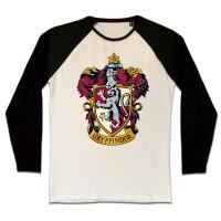 Harry Potter Baseball T-Shirt (Raglan) : Gryffindor Crest...