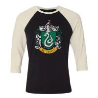 Harry Potter Baseball T-Shirt (Raglan) : Slytherin Crest...