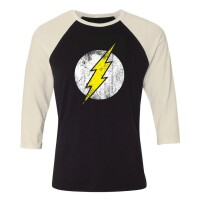 DC Comics Baseball T-Shirt (Raglan) : Flash Logo...
