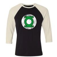 DC Comics Baseball T-Shirt (Raglan) : Green Lantern Logo...