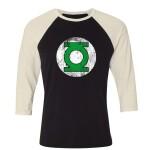 DC Comics Baseball T-Shirt (Raglan) : Green Lantern Logo (schwarz/weiß) XL