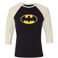 Batman Baseball T-Shirt (Raglan) : Batman Logo...