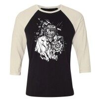 Batman Baseball T-Shirt (Raglan) : Joker angry portrait...