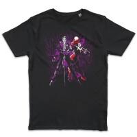 Batman T-Shirt - Joker Harley Hahaha (schwarz)