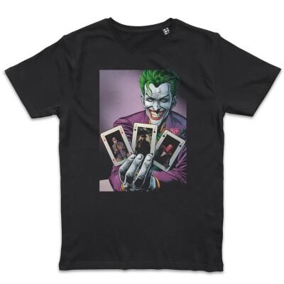 Batman T-Shirt - Joker Flash Cards (schwarz) L