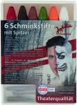 Horror Halloween 6 Schminkstifte mit Anspitzer