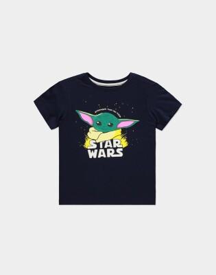 Star Wars The Mandalorian Jugend Youth T-Shirt Stronger Baby Yoda (schwarz) 122/128