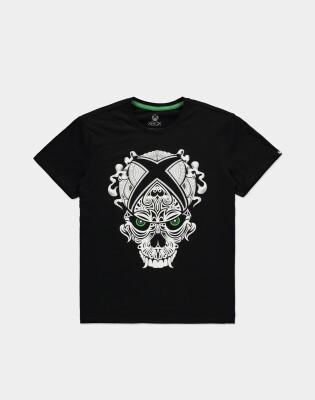 Microsoft XBox T-Shirt - XBox Skull (schwarz) L