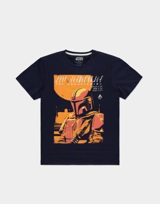 Star Wars T-Shirt - The Mandalorian Bounty Hunter (schwarz) M