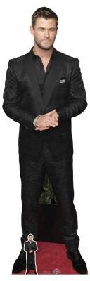 Celebrity Pappaufsteller (Stand Up) - Chris Hemsworth Black Shirt (190 cm)