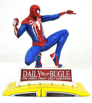 Marvel Gallery PVC-Statue - PS4 Spider-Man on Taxi (23 cm)