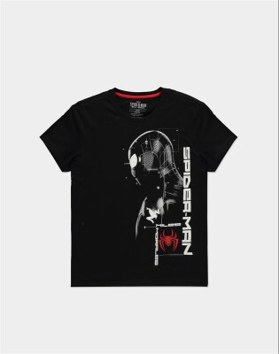 Spider-Man T-Shirt - Miles Morales Silhouette (schwarz) L