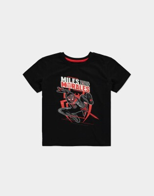 Spider-Man Jugend Youth T-Shirt Miles Morales (schwarz) 146/152